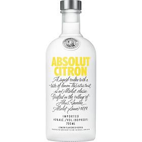 Rượu Vodka Absolut vị Chanh Citron 700ml 40% - Không kèm hộp