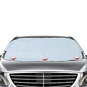 Tấm bạt che chắn nắng ngoài kính lái ô tô 4 lớp kích thước 193*126 cm