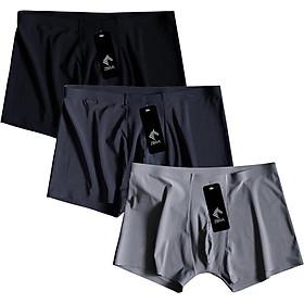 Combo 3 Quần sịp nam, quần lót boxer lụa mát xuất khẩu ZBra - ZQN11
