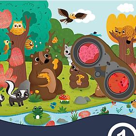 Bộ xếp hình Mideer Puzzle Games Khu rừng bí mật 35 miếng ghép secret Puzzle Forest