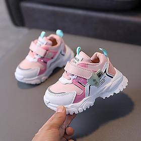 Giày thể thao cho bé gái 1 - 5 tuổi đế mềm quai dán thời trang phong cách Hàn Quốc GE84