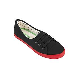 Giày Vải Nữ Mido's 511-3W-BLACK - Đen Đỏ