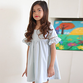 Đầm Bé Gái KIKA Ren Tay K120 - Xanh Ngọc