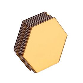 Gương dán tường hình lục giác cạnh 132mm -Giao màu ngẫu nhiên (1 cái)