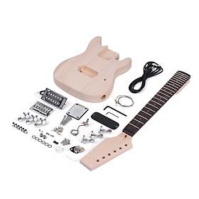 Bộ Kit Ráp Đàn Guitar Điện DIY Muslady TL Tele Thân Gỗ Bề Mặt Burl