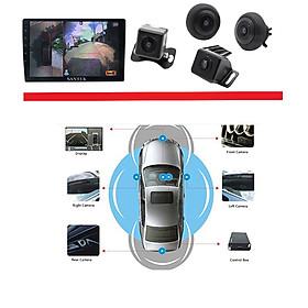 Bộ kết hợp màn hình DVD Android và Camera 360 độ 2 trong 1, chuẩn AHD dùng cho các loại xe ô tô