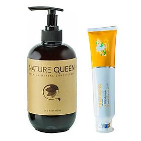 Dầu xả Nature Queen 480ml - Tặng Kem Đánh Răng