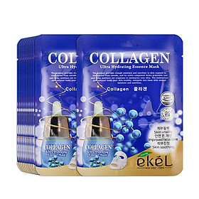 Gói 10 mặt nạ dưỡng da Ekel chiết xuất Collagen (EKEL Collagen ULtra Hydrating Essence Mask)