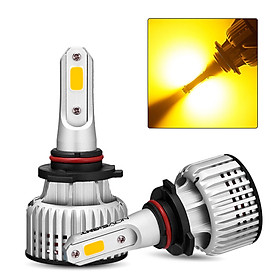 NOVSIGHT Car LED Headlight Bulb H3 H4 H7 H11 9005 9006 3000K Yellow Running Light 10000LM/Pair 72W/Pair Headlight Bulbs