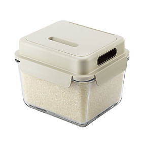 Glasslock Imported Rice Barrel Moistureproof Insect Resistant Rice Flour Grain Storage Box Rice Box 6L / MCRB-600RS
