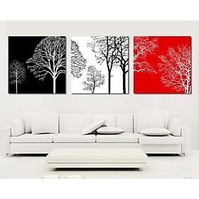 Tranh Canvas treo tường nghệ thuật | Bộ 3 bức vuông| HLB_088