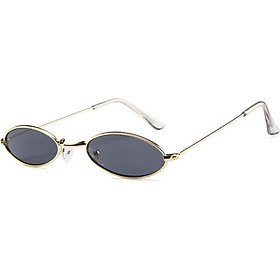 Stylish Ultra - Small Ellipse Frame Sunglasses Driving Glasses for Street Snap Birthday Gift