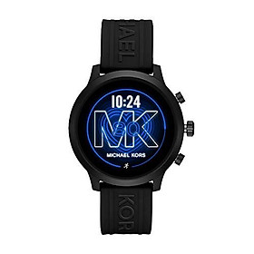 Michael Kors Access Women's MKGO Touchscreen Aluminum and Silicone Smartwatch, Black with Swarvoski Crystals-MKT5093
