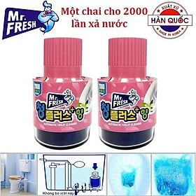 Bộ 2 Chai Thả Bồn Cầu Làm Sạch Diệt Khuẩn Mr.Fresh Hàn Quốc 180g (Hương Hoa Ly)
