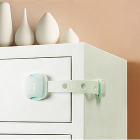 Bộ 2 Cái Khoá Ngăn Kéo, Cửa Tủ Lạnh, Của Tủ Quần Áo - Khóa Dạng Dây, Điều Chình Chiều Dài Dây