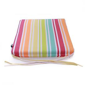 Nệm ngồi Soft Decor 405 Orange Stripe Pattern 40x40x5cm (Sọc cam)