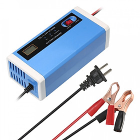 Car Battery Charger Power Charging 12V 24V 10A Intelligent Repair Type Automatic 3 Stages LCD Dry Wet Lead Acid