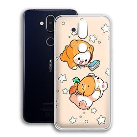 Ốp lưng dẻo cho điện thoại Nokia 8.1 - 01173 0546 COUPLE09 - Hàng Chính Hãng