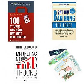 Combo 100 ý tưởng bán hàng hay nhất mọi thời đại +sát thủ bán hàng +markrting mở đường tăng trưởng(bản đặc biệt tặng kèm bookmark AHA)
