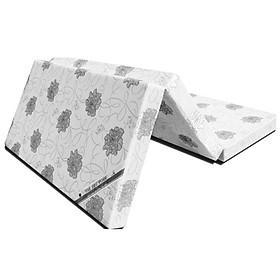 Nệm gấp 3 Vải Polyester Comfort Malaysia - Nền trắng hoa văn