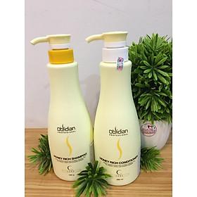 Cặp dầu gội/xả mật ong nuôi dưỡng tóc Obsidian Honey Rich Hàn Quốc 580ml tặng kèm móc khoá-3