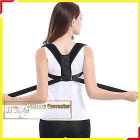 Đai chống gù lưng nam nữ cao cấp-HT SYS-Posture Corrector-Freesize-Màu đen