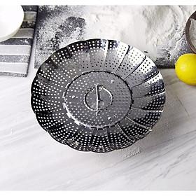 Set 2 dụng cụ hấp thức ăn inox - 14cm 140g