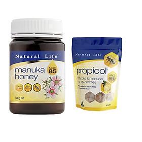 Combo Mật Ong Manuka và Kẹo Manuka Natural Life Úc