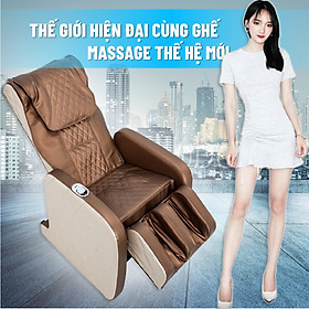 Ghế massage  công nghệ mới hot 2020 thiết kế sang chảnh Máy massage toàn thân giảm stress lưu thông khí huyết giảm đau nhức toàn cơ thể cho cả gia đình bạn, bọc da cao cấp, có diều khiển, có bánh xe di chuyển dễ dàng