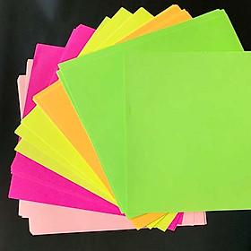 Giấy Gấp Origami, Giấy Thủ Công Gấp Hạc Gấp Hoa Gấp Hình Động Vật ( 17.5 cm* 17.5cm 5 Màu 60 Tờ)