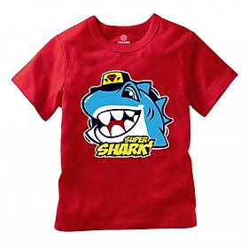 Áo thun  hình cá mập Supper Shark siêu dễ thương.