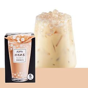 Combo trà sữa trân châu Đài Loan High Tea - 365g/ 5 gói (gói trà sữa+viên chân châu)