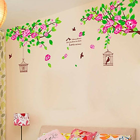 Decal dán tường hoa tầm xuân - HP130