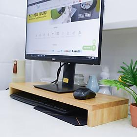 Kệ gỗ để màn hình máy tính đa năng