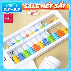 Bàn tính gảy hạt soroban 5/7 dòng dành cho bé học toán làm toán nhanh Deli - 74320 / 74322