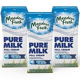 Lốc 3 hộp Sữa tươi nguyên kem Meadow Fresh 200ml