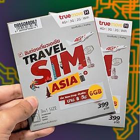 Sim Du Lịch 23 Nước Châu Á +  Úc Và Mỹ Có Sẵn 6GB Tốc Độ Cao Dùng Trong 10 Ngày - Màu Ngẫu Nhiên