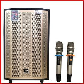 Loa Kéo Công Suất Lớn jmw j8000sa-01 Karaoke Di Động Bass 5 Tấc 2 loa trung 2 loa treble thùng gỗ Chính Hãng