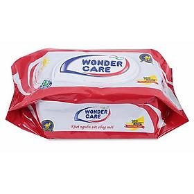 Khăn Giấy Ướt Bỏ Túi Wonder Care (100 Tờ)