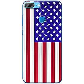 Ốp lưng dành cho  Honor 9 Lite  mẫu Lá cờ Mĩ
