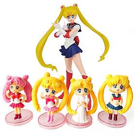 Bộ 05 mô hình thủy thủ mặt trăng - Sailor Moon (Mẫu 03)