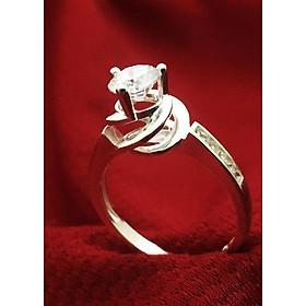 Hình đại diện sản phẩm Nhẫn nữ ổ cao gắn đá kim cương nhân tạo trắng sáng bạc 925 cao cấp Trang Sức Bạc QTJ - BQTJ26-176 (bạc)