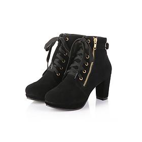Giày Boot nữ thời trang khóa kéo B070
