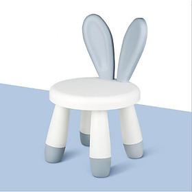 Ghế Tập Ngồi, Ghế Ăn Dặm, Ghế Tập Ăn Tai Thỏ Cho Bé bằng Nhựa ABS