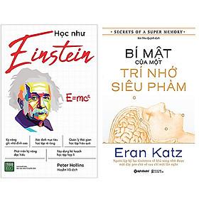 Combo 2 Cuốn Sách Học Như Einstein + Bí Mật Của Một Trí Nhớ Siêu Phàm