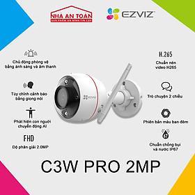 Camera IP Wifi ngoài trời EZVIZ C3W Pro Color Night bản 2MP hàng chính hãng Nhà An Toàn