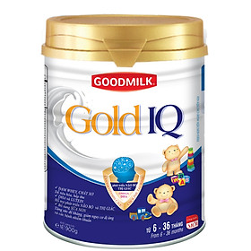 sữa bột GOODMILK GOLD IQ Dành cho trẻ 6 tháng đến 36 tháng lon 900gr