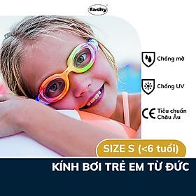 Kính bơi trẻ em Fashy dòng Match, đạt tiêu chuẩn Châu Âu, chống mờ, chống tia UV thiết kế thời trang dành cho bé trai, bé gái dưới 6 tuổi