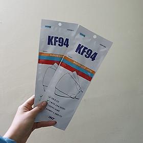 Combo 2  khẩu trang hàn quốc KF94 màu trắng