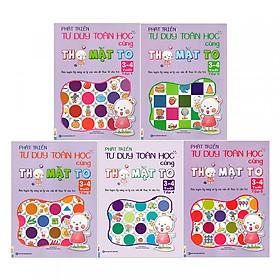 Combo Sách Phát Triển Tư Duy Toán Học Cùng Thỏ Mặt To 3-4 Tuổi (Trọn Bộ 5 Cuốn) tặng kèm bookmark
